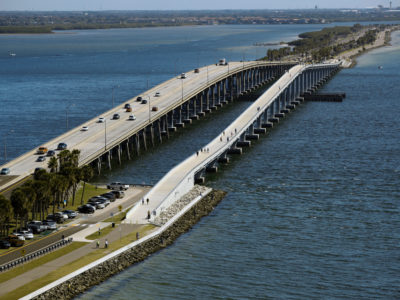 Tampa, Florida. 2/20/2016. Overall looking east towards the causeway road and the scenic trail. Photos of the Courtney Campbell Scenic Highway and areas along it. Photo by Bill Serne