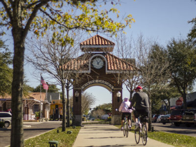 Cycling In Downtown Winter Garden On Green Mountain Scenic Byway
