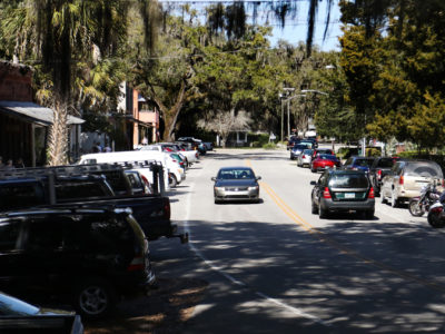 The Old Florida Heritage Highway makes it's way through downtown Micanopy.   Photo by: Brad McClenny