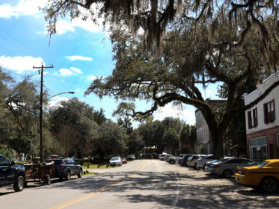 The Old Florida Heritage Highway makes it's way through downtown Micanopy. | Photo by: Brad McClenny
