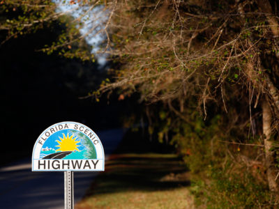 The J.C. Penney Memorial Scenic Highway passes through a series of natural features, including oak and magnolia canopies. The 2.85-mile Florida Scenic Highway in Clay County is home to Penney Farms, a community started in 1926 by department store pioneer J.C. Penney. Daron Dean for VISIT FLORIDA