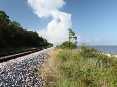 Railway Along The Water