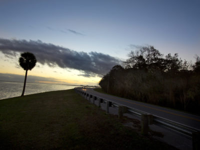 Over 150 miles of scenic roadway, the River of Lakes Heritage Corridor, takes you through Lake, Volusia , and Seminole County. This scenic byway is a combination of historic preservation, rich culture and Florida natural habitats at it's finest. Lake Monroe glimmers in the early morning. Fishing enthusiasts line the banks. (Photo/Julie Fletcher)