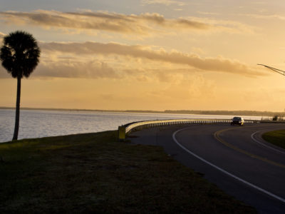 Over 150 miles of scenic roadway, the River of Lakes Heritage Corridor, takes you through Lake, Volusia , and Seminole County. This scenic byway is a combination of historic preservation, rich culture and Florida natural habitats at it's finest. As the sun rises an Lake Monroe in Downtown Sanford. (Photo/Julie Fletcher)