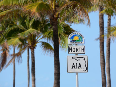 Broward County -- Florida Scenic Highway sign along A1A in Ft. Lauderdale, Fl. Photo by Peter W. Cross