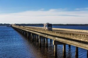 The U.S. 98 bridge over Ochlockonee Bay gets drivers on the Coastal Trail of the Big Bend Scenic Byway out over the water. COLIN HACKLEY PHOTO