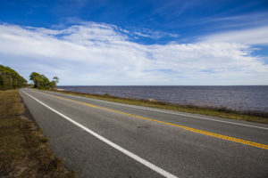 The Gulf of Mexico is often just out the window while driving the Coastal Trail portion of the Big Bend Scenic Byway west of Carrabelle along U.S. Highway 98. COLIN HACKLEY PHOTO