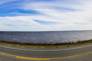 A panoramic view of the Gulf of Mexico and U.S. Highway 98 on the Coastal Trail portion of the Big Bend Scenic Byway west of Carrabelle. COLIN HACKLEY PHOTO EDITOR'S NOTE: This image is comprised of multiple photos taken at the same moment and stitched together by Photoshop to create a panorama.