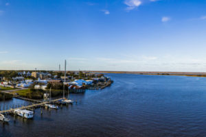 A panoramic view from the U.S. Highway 98 bridge as overlooks Apalachicola and the river of the same name. COLIN HACKLEY PHOTO EDITOR'S NOTE: This image is comprised of multiple photos taken at the same moment and stitched together by Photoshop to create a panorama.
