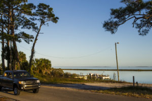 The Coastal Trail portion of the Big Bend Scenic Byway skirts Apalachicola Bay in the fishing village of Eastpoint. COLIN HACKLEY PHOTO