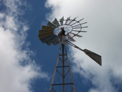 Windmill Above Orange Lake