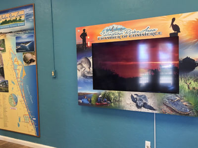 Wallpaper map of Indian River Lagoon Scenic Byway and HD video installation