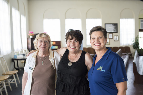 Cathie, Deborah and Georgia — at Cassadaga Spiritualist Camp.