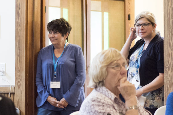 Deborah Miller, Cathie Parrot and Karen Ford — at Hopkins Hall.