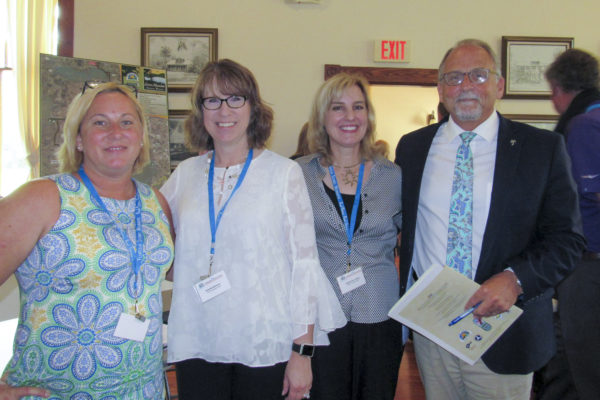 Dani Anderson of Scenic and Historic A1A, Wanda Maloney and Stephanie Liskey from the FSHP Consultant Team, and Nelson Mongiovi of Visit Florida were panelists for a discussion of the Visitor Experience on Florida Scenic Highways. — at Hopkins Hall.