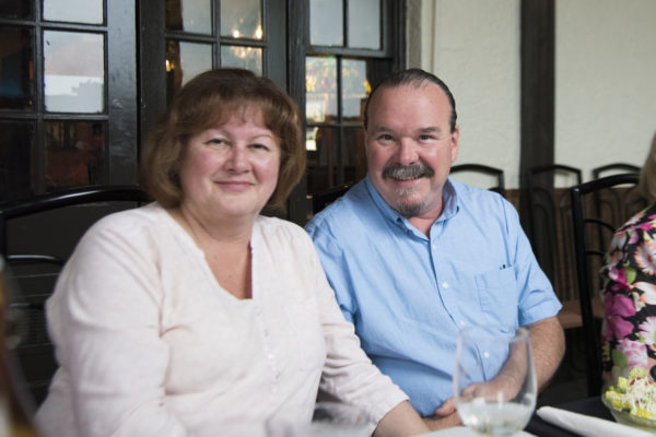 Cindy Sullivan, Chair of River of Lakes Heritage Corridor, and her husband Ed — in Cassadaga, Florida.