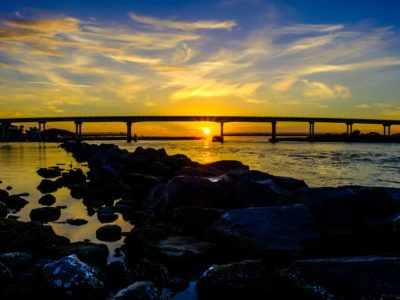 Sunrise A1A Bridge Sebastian Inlet