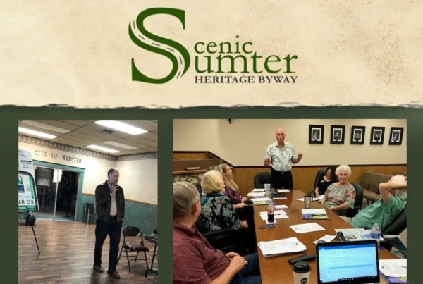Scenic Sumter Lecture Series Front Page